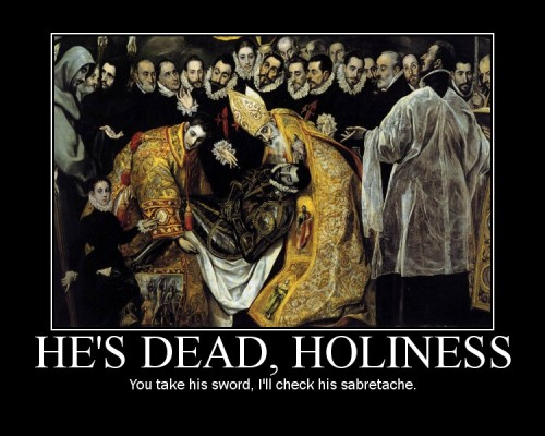 He's Dead, Holiness