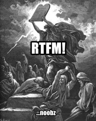 rtfm noobs
