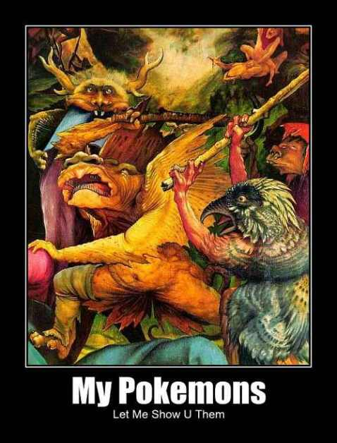 demons tempting st anthony my pokemons let me show u them