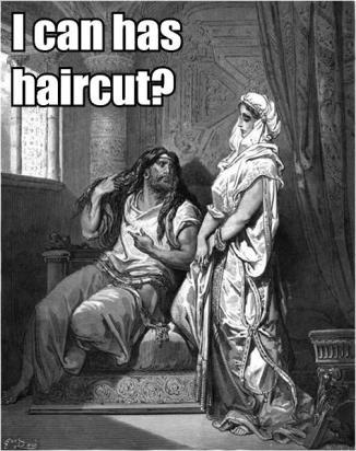 Sampson and Delilah: i can has haircut