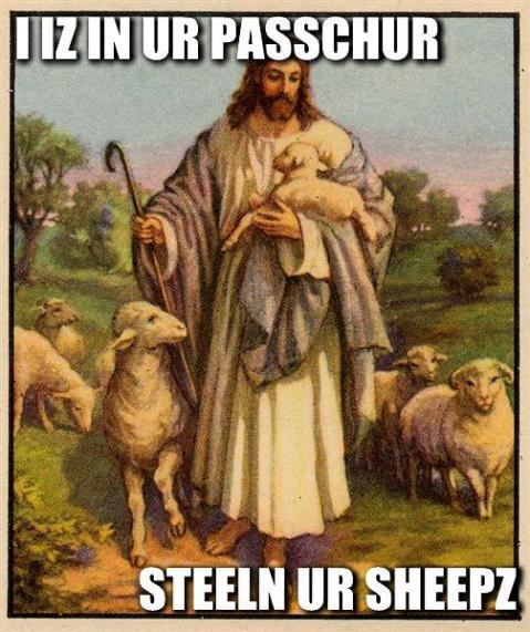 in ur pasture stealin ur sheep