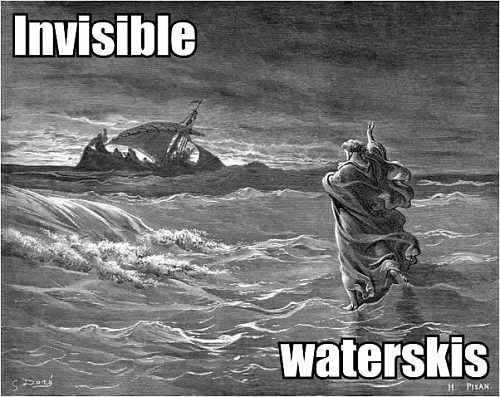 walking on water invisible waterskis