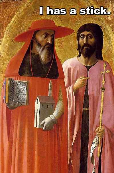 saint jerome and john the baptist i has a stick