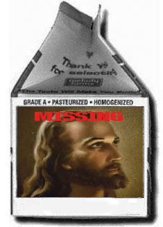 Jesus on Milk Carton