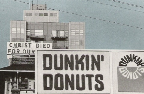 christ died for our dunkin donuts