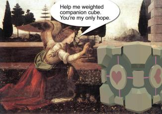 Help me weighted companion cube