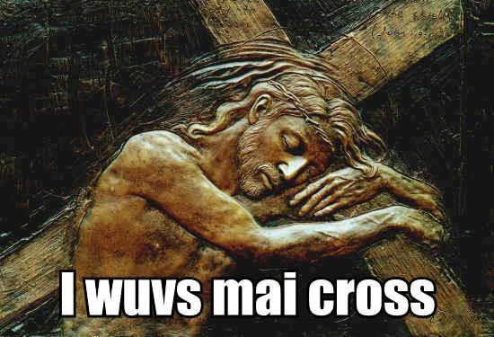 I wuvs mai cross