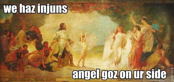 we haz injuns: angel goes on ur side