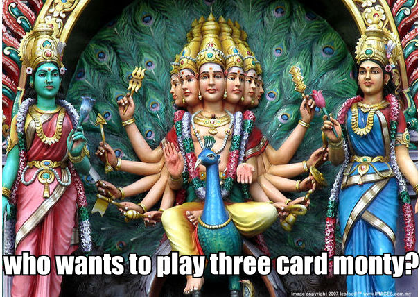 who wants to play three card monty