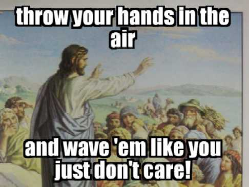 wave hands air