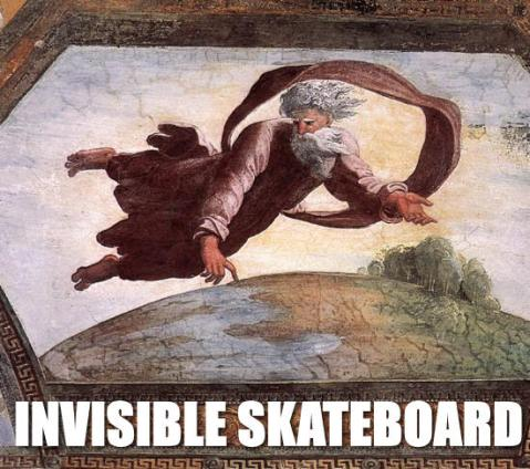 Invisible Skateboard