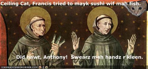mayk sushi wif mah fish handz r kleen