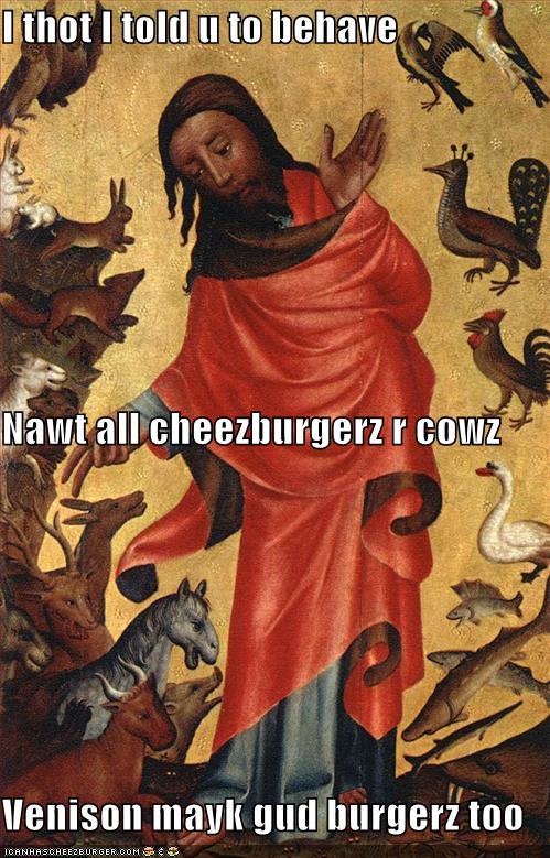 venison cheezburger