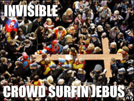INVISABLE CROWD SURFIN JEBUS