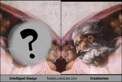 2 for the price of 1.  Intelligent Design vs Creationism.