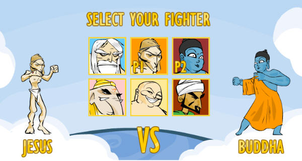 Faith Fighter by Molleindustria is a satirical flash based fighting game.