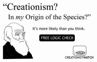 Creationism? In my Origin of the Species? It's more likely than you think.